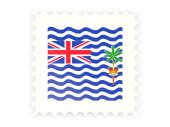 Postage stamp icon of british indian ocean territory — Stok fotoğraf