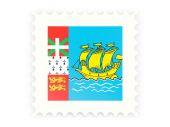 Postage stamp icon of saint pierre and miquelon — ストック写真