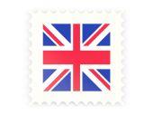 Postage stamp icon of united kingdom — Foto Stock
