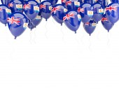 Balloon frame with flag of anguilla — Stock Photo