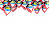 Balloon frame with flag of antigua and barbuda — Stock Photo
