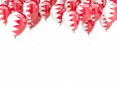 Balloon frame with flag of bahrain — Stock Photo