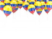 Balloon frame with flag of colombia — Foto de Stock