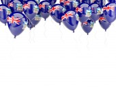 Balloon frame with flag of falkland islands — Stock Photo