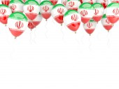 Balloon frame with flag of iran — Stockfoto