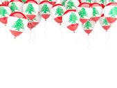 Balloon frame with flag of lebanon — Stockfoto