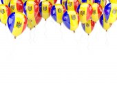 Balloon frame with flag of moldova — 图库照片