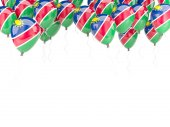 Balloon frame with flag of namibia — 图库照片