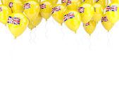 Balloon frame with flag of niue — Stock Photo