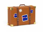 Suitcase with flag of anguilla — Stock Photo