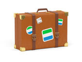 Suitcase with flag of sierra leone — Stock Photo