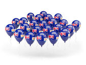 Balloons with flag of anguilla — Stock Photo