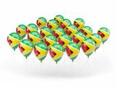 Balloons with flag of guyana — Stock Photo