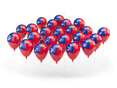 Balloons with flag of samoa — Stock Photo