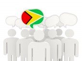 People with flag of guyana — Stock Photo