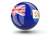 Round icon of flag of anguilla — Stock Photo