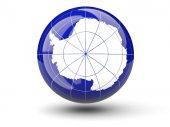 Round icon of flag of antarctica — Stock Photo