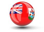 Round icon of flag of bermuda — Stock fotografie