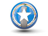 Round icon of flag of northern mariana islands — Stock Photo