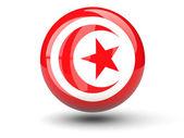Round icon of flag of tunisia — Стоковое фото
