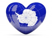 Heart shaped icon with flag of antarctica — Stock Photo