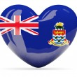 Heart shaped icon with flag of cayman islands — Stock Photo #66260641