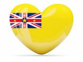 Heart shaped icon with flag of niue — Stock Photo