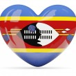 Heart shaped icon with flag of swaziland — Stock Photo #66360211