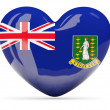������, ������: Heart shaped icon with flag of british virgin islands