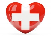 Heart shaped icon with flag of switzerland — Foto Stock