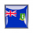 ������, ������: Square icon with flag of british virgin islands