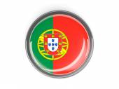 Round button with flag of portugal — Stock Photo