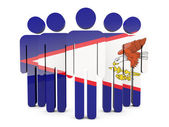 People with flag of american samoa — Stock Photo