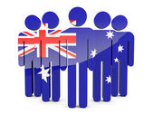 People with flag of australia — Stock Photo
