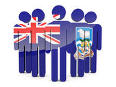 People with flag of falkland islands — Stock Photo