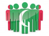 People with flag of maldives — Stock Photo