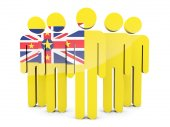People with flag of niue — Stock Photo