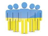 People with flag of ukraine — Stockfoto