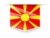 Square label with flag of macedonia — Stock Photo