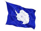 Mávání vlajkou Antarktidy — Stock fotografie