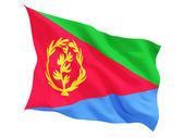 Waving flag of eritrea — Stock Photo