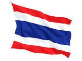 Tayland bayrağı sallayarak — Stok fotoğraf