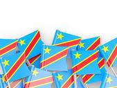 Pin bandiera della Repubblica democratica del congo — Foto Stock
