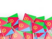 Flag pin of eritrea — Stock Photo