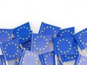 Flag pin of european union — Fotografia Stock