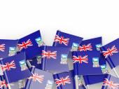 Flag pin of falkland islands — Stock Photo