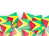 Flag pin of guyana — Stock Photo