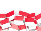 Flag pin of indonesia — Foto de Stock