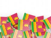 Flag pin of sri lanka — Stockfoto