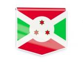 Etiqueta de la bandera de burundi — Foto de Stock